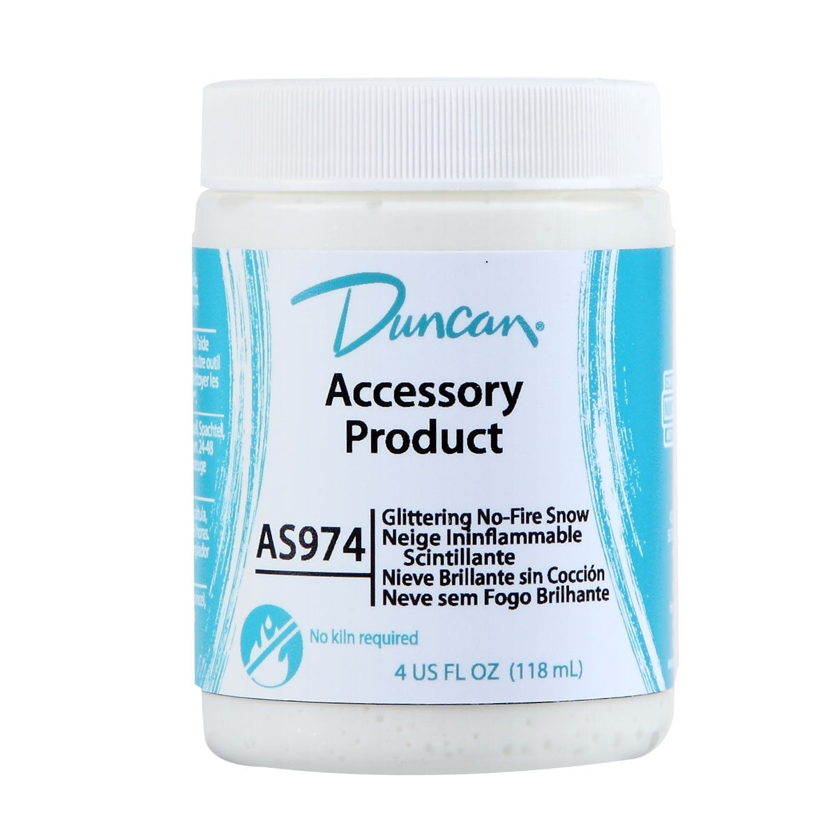Duncan - AS974 Glittering No-Fire Snow, 4 oz - Sounding Stone