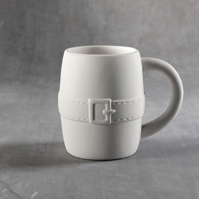 Duncan 35978 Bisque Santa's Belt Mug - Sounding Stone