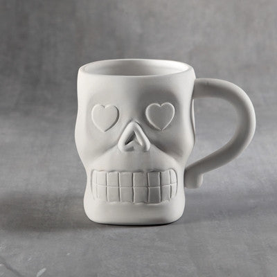 Duncan 35956 Bisque Sugar Skull Mug - Sounding Stone