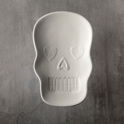 Duncan 35957 Bisque Sugar Skull Dish - Sounding Stone