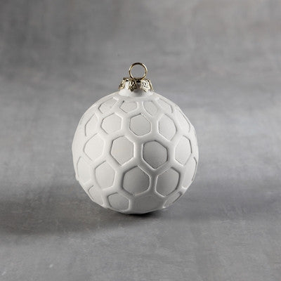 Duncan 35973 Bisque Hexagon Round Ornament - Sounding Stone
