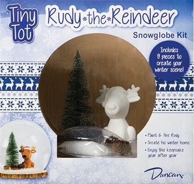 Duncan 35964 Bisque Tiny Tot Rudy the Reindeer Snowglobe - Sounding Stone
