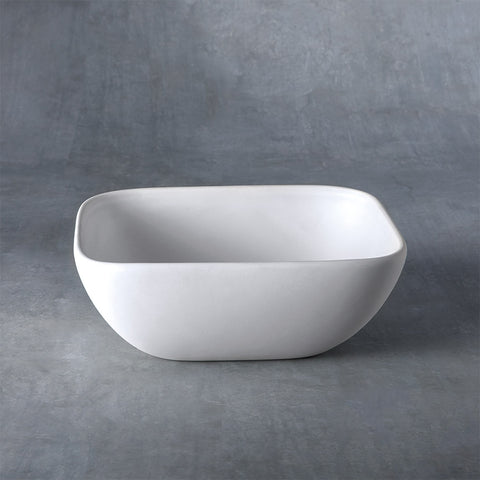 37470 Bisque Small Squrve Bowl