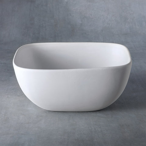 37471 Bisque Medium Squrve Bowl