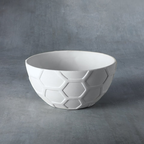 37476 Bisque Small Honeycomb Bowl