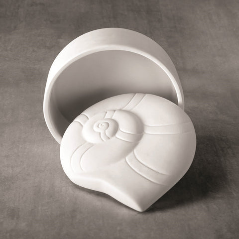 37486 Bisque Nautilus Shell Box