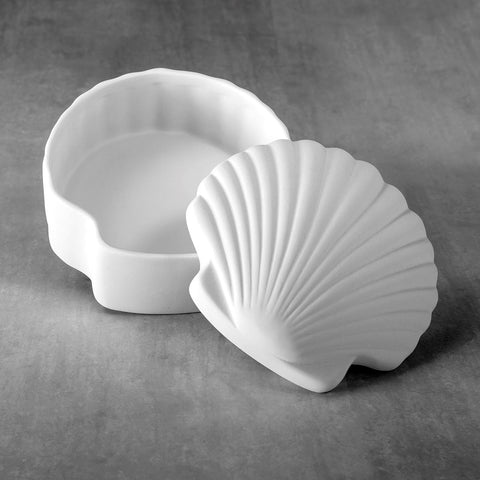37484 Bisque Scallop Shell Box