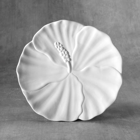 Duncan - 37483 Bisque Hibiscus Plate - Sounding Stone