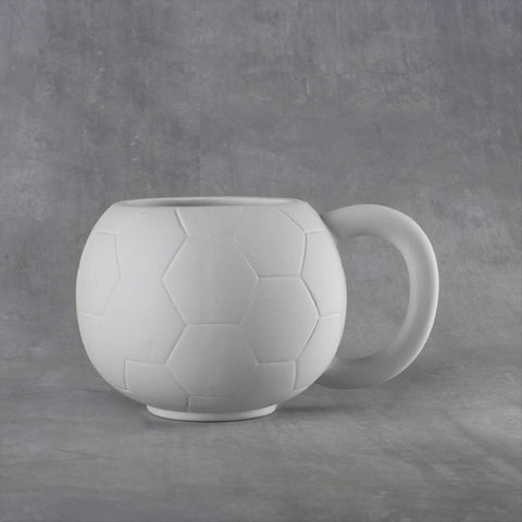 Duncan 38095 Bisque Soccer Ball Mug 20 oz