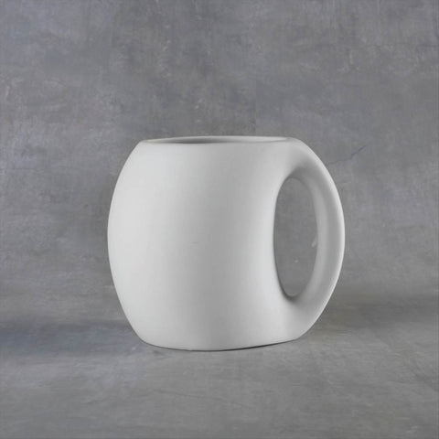 Duncan 38103 Bisque Whole Handle Mug 14 oz