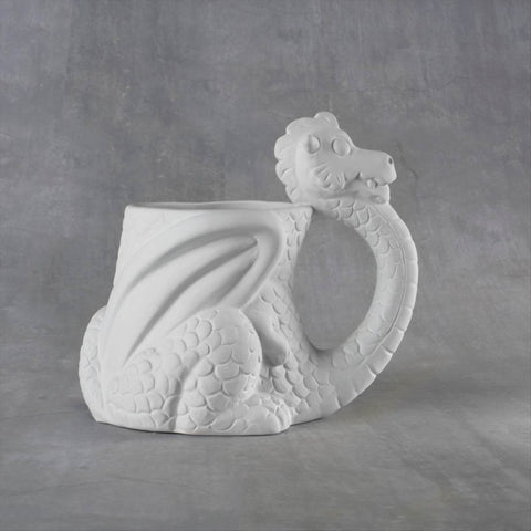 Duncan 38106 Bisque Dragon Mug 12 oz