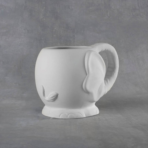 Duncan 38119 Bisque Elephant Mug 14 oz