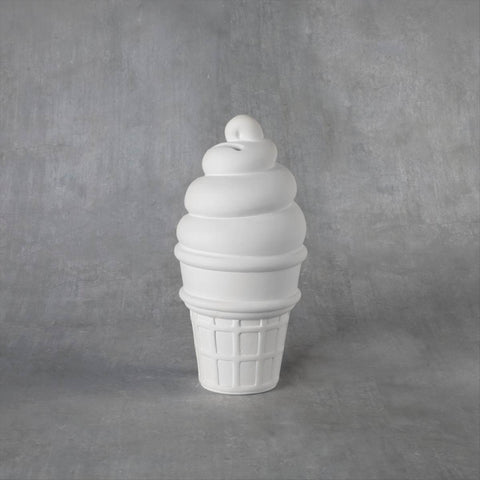 Duncan 38178 Bisque Ice Cream Cone Bank