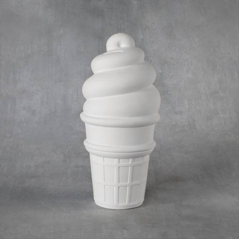 Duncan 38179 Bisque XL Ice Cream Cone Bank
