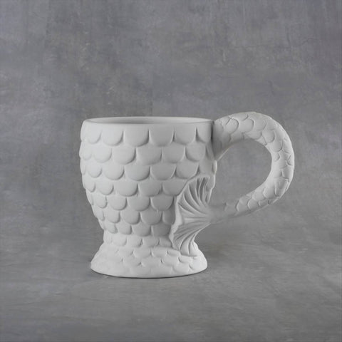 Duncan 38107 Bisque Mermaid Mug 12 oz