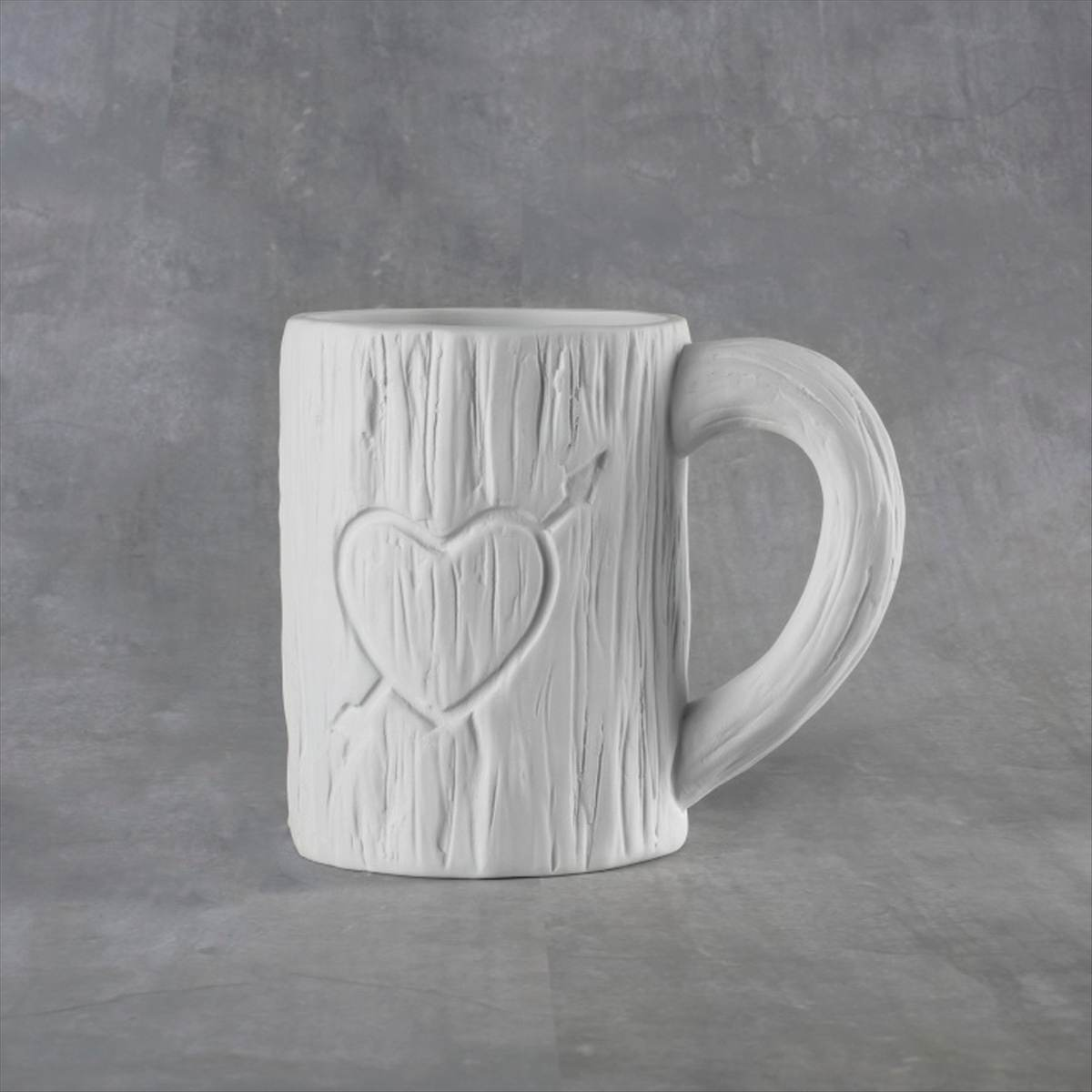 Duncan 38111 Bisque Tree Carved Heart Mug 12 oz