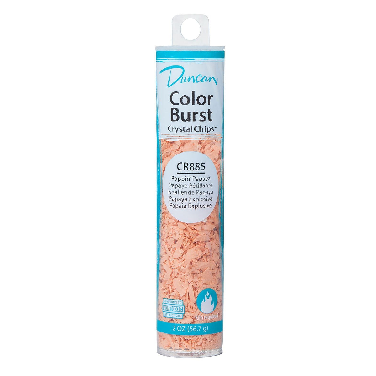 Duncan CR885 Poppin' Papaya Color Burst Crystal Chips, 2 oz.