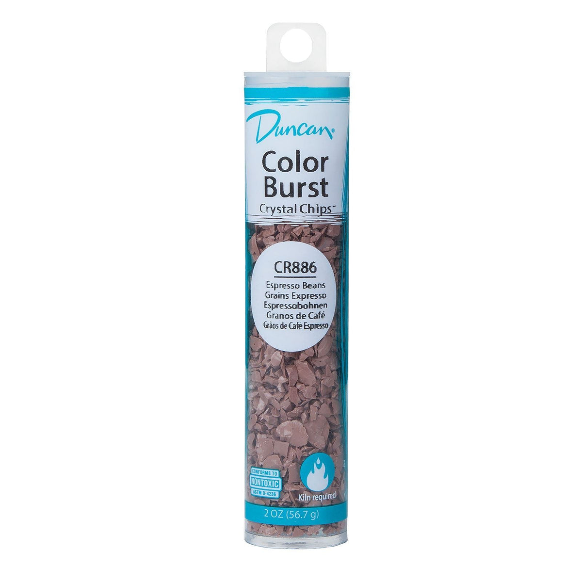 Duncan CR886 Espresso Beans Color Burst Crystal Chips, 2 oz.