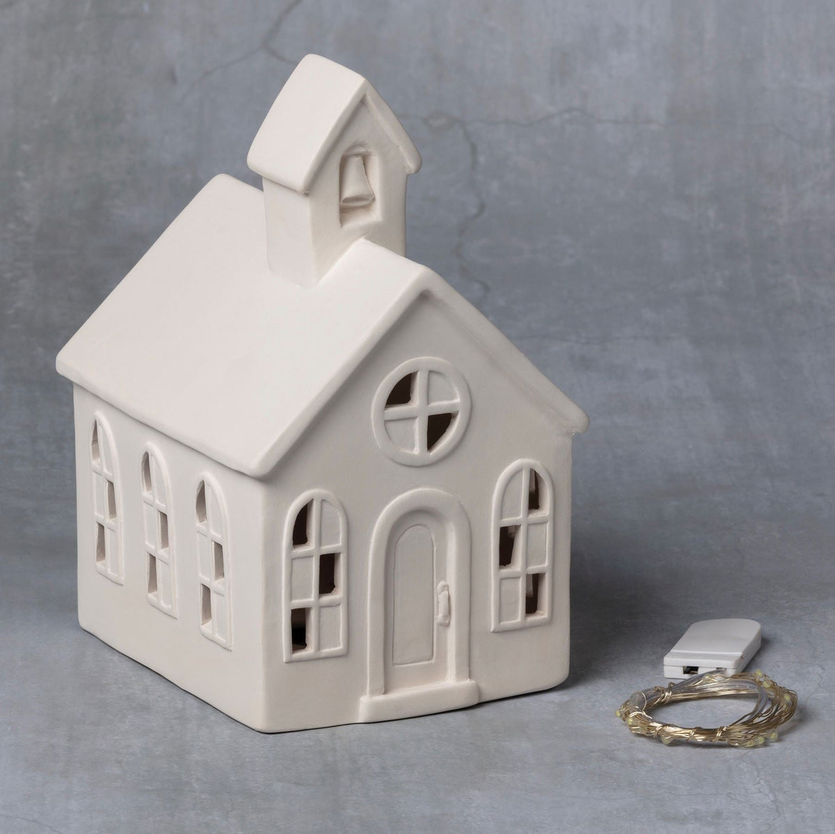Duncan 43281 Bisque Light Up Church