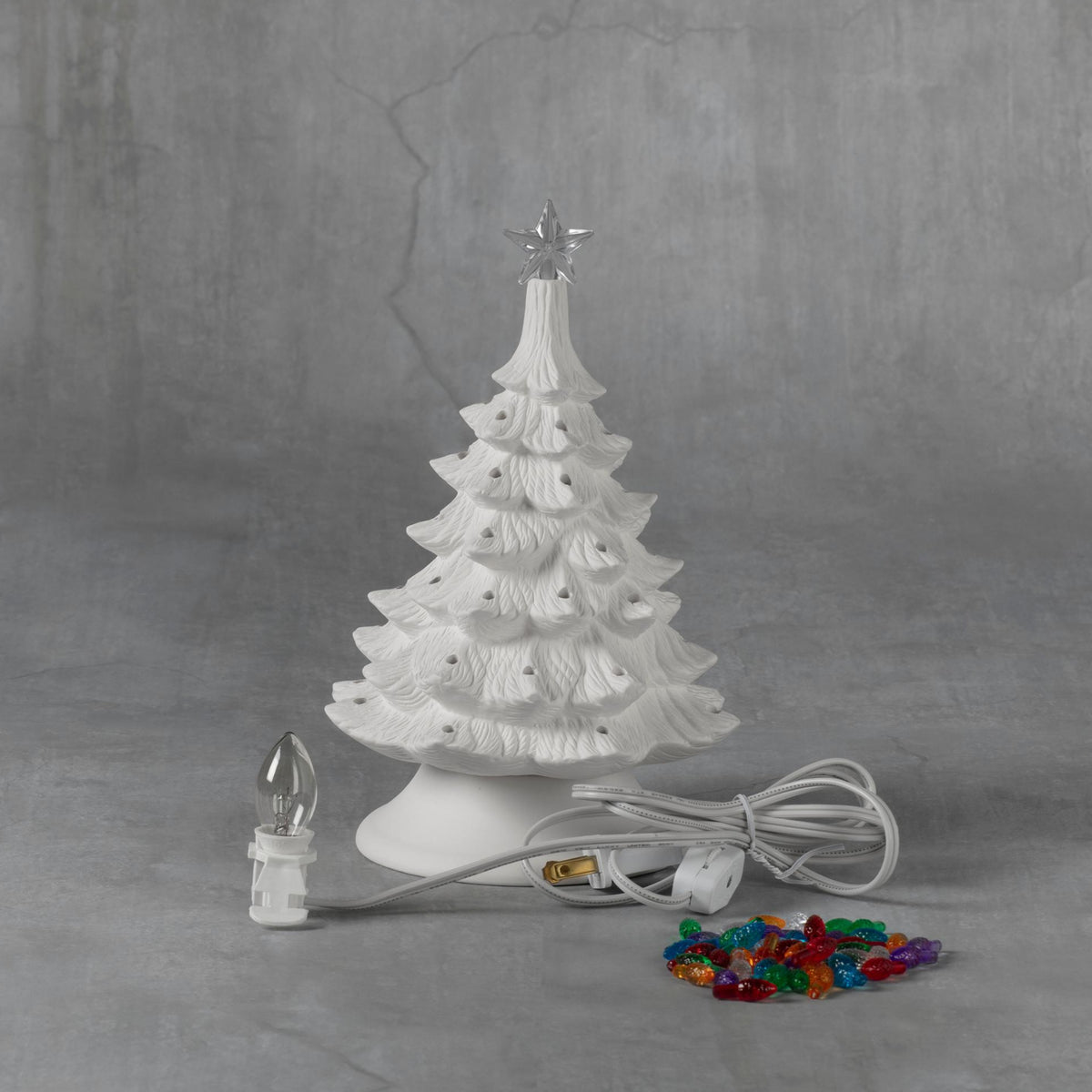 Duncan 45767 Bisque 8 inch Christmas Tree with Base, Case of 4