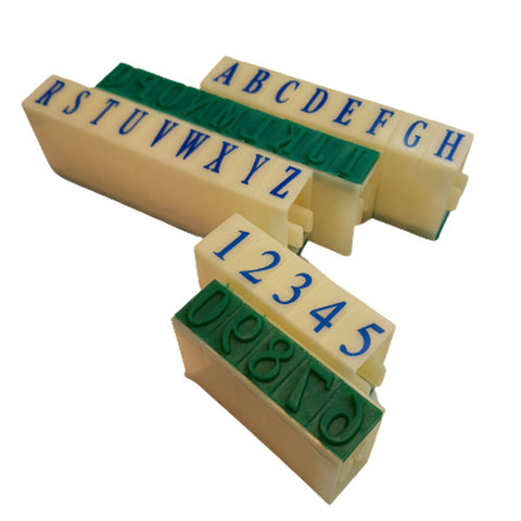 "1/2"" Letter & Number Stamp Set"