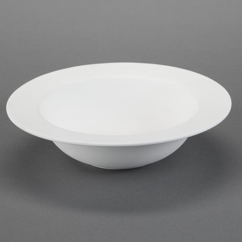 Duncan - 21670 Rimmed Bisque Serving Bowl - Sounding Stone