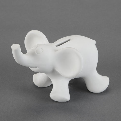 Duncan - 21678 Bisque Cute Elephant Bank - Sounding Stone