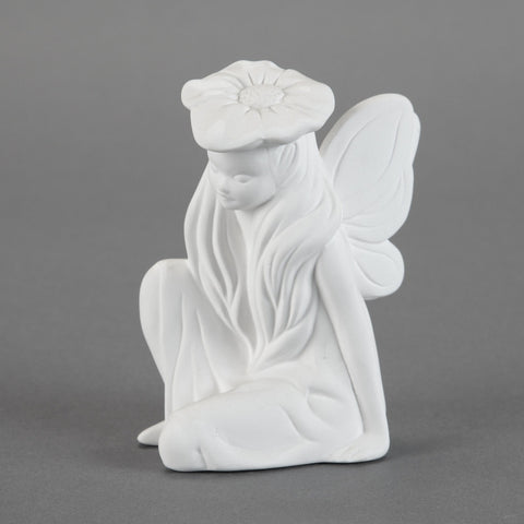 Duncan - 21696 Bisque Sitting Fairy - Sounding Stone