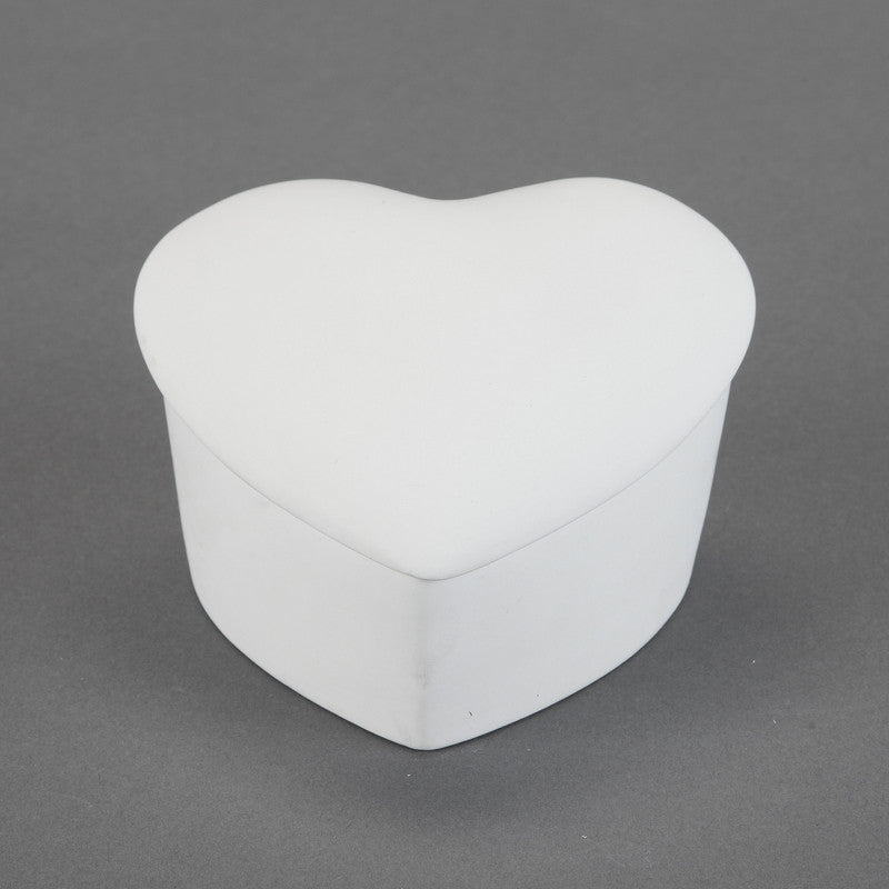Duncan - 22679 Bisque Slanted Heart Box - Sounding Stone