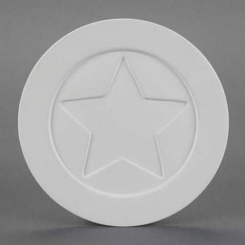 Duncan - 26138 Bisque Pop Star Plate - Sounding Stone