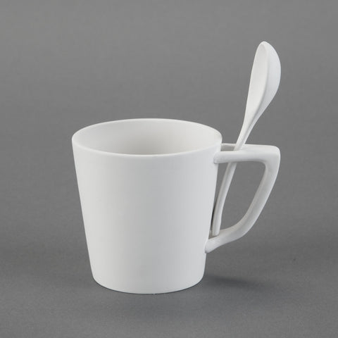 Duncan - 27156 Bisque Snack Mug with Spoon - Sounding Stone