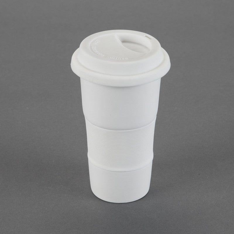 Duncan - 28552 Bisque Travel Cup with Removable Silicone Sleeve & Lid - Sounding Stone
