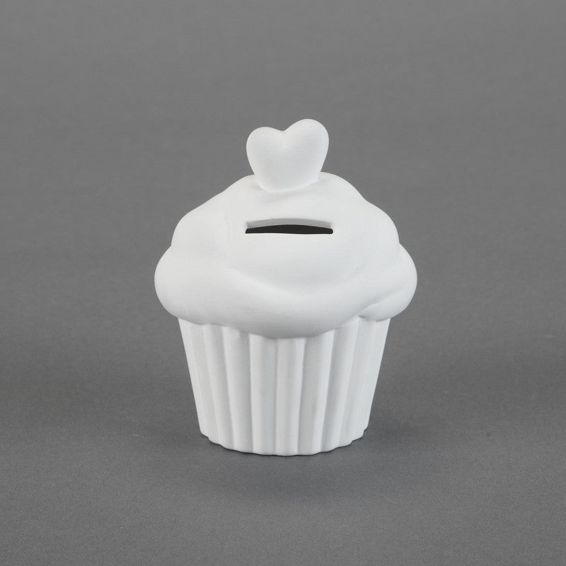 Duncan - 29049 Bisque Cupcake Bank - Sounding Stone