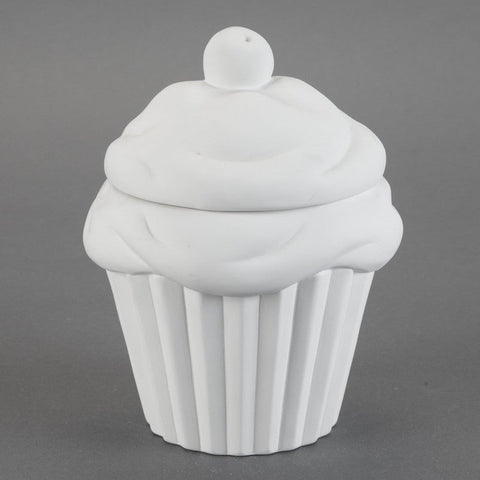 Duncan - 29050 Bisque Cupcake Cookie Jar - Sounding Stone
