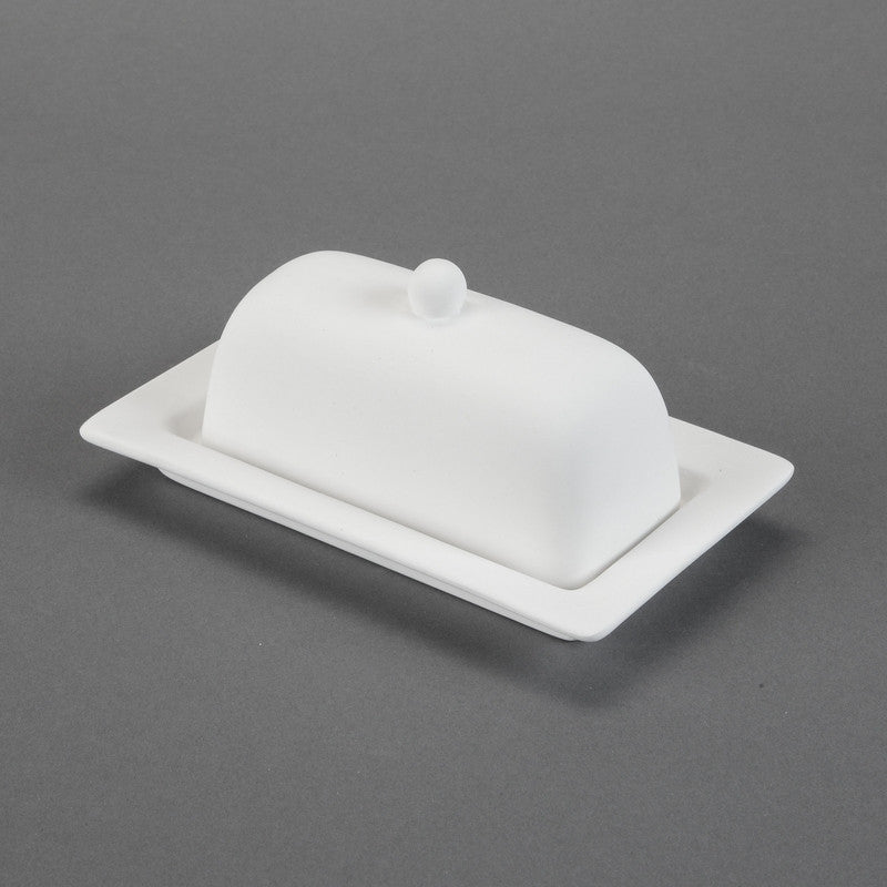 Duncan - 29206 Bisque Rimmed Butter Dish - Sounding Stone