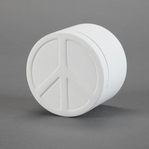 Duncan - 29223 Bisque Peace Sign Box - Sounding Stone