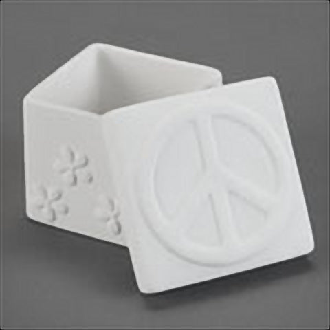 Duncan - 29877 Bisque Peace & Daisy Box - Sounding Stone