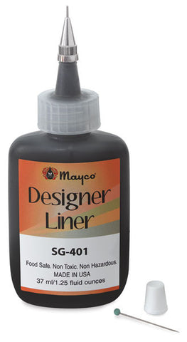 Mayco SG408 Orange Designer Liner, 1.25 oz