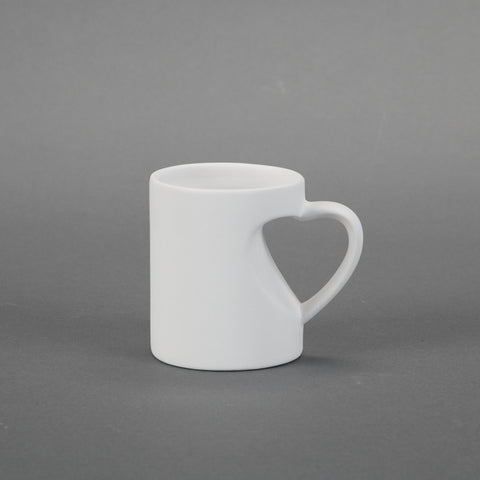Duncan - 30619 Bisque Small Heart Mug - Sounding Stone