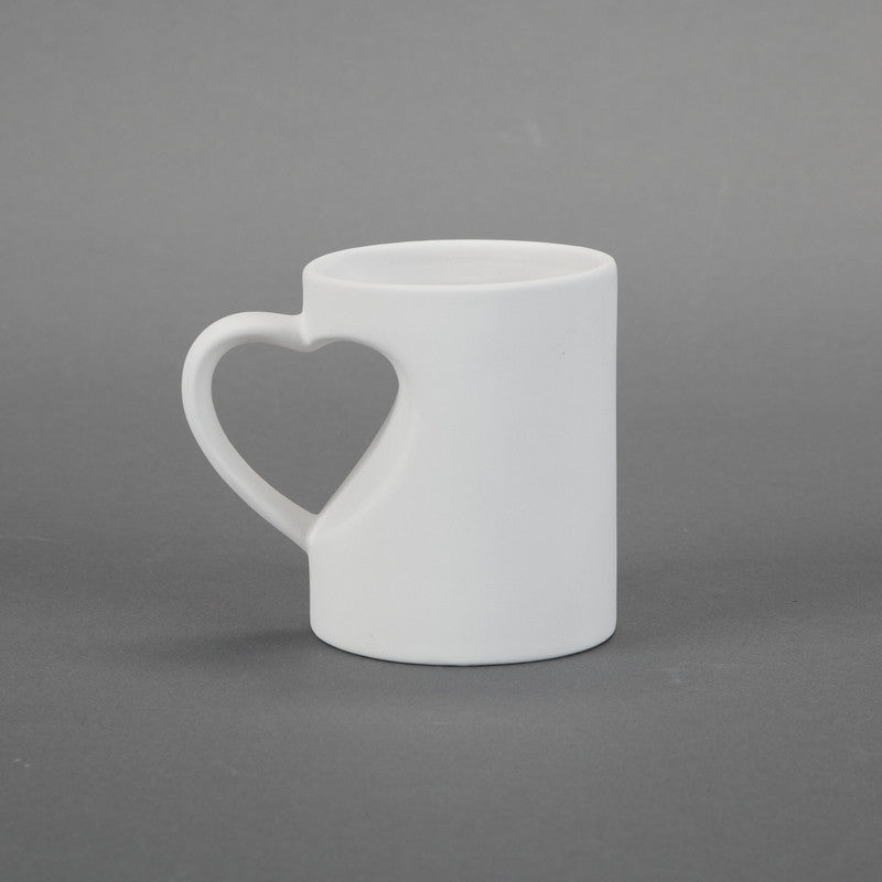 Duncan - 30620 Bisque Medium Heart Mug - Sounding Stone