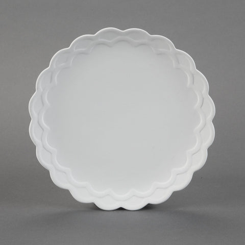 Duncan - 31216 Scalloped Bisque Dinner Plate - Sounding Stone