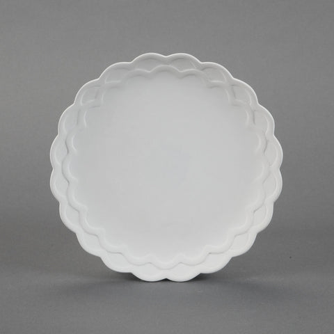 Duncan - 31217 Scalloped Bisque Salad Plate - Sounding Stone