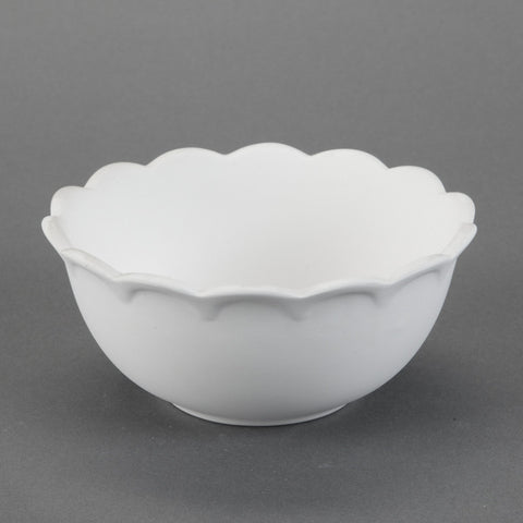 Duncan - 31218 Scalloped Bisque Bowl - Sounding Stone