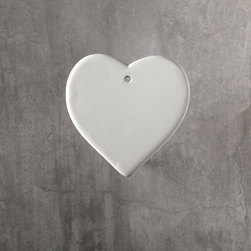 Duncan - 31516 Bisque Heart Ornament - Sounding Stone