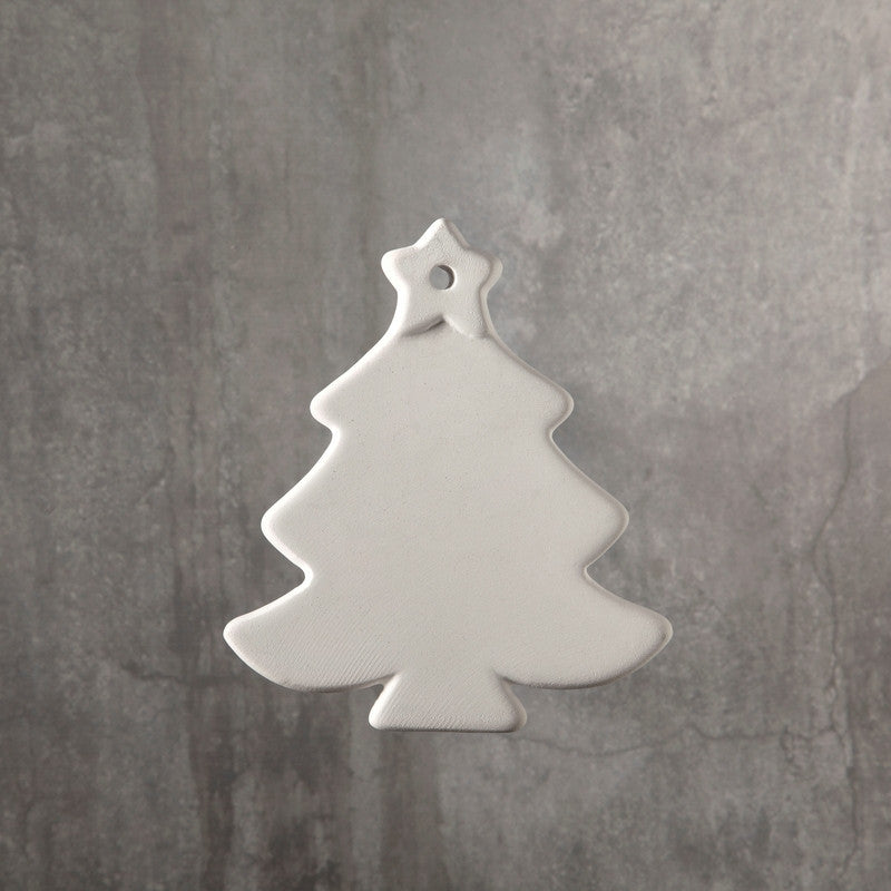Duncan - 31521 Bisque Christmas Tree Ornament - Sounding Stone
