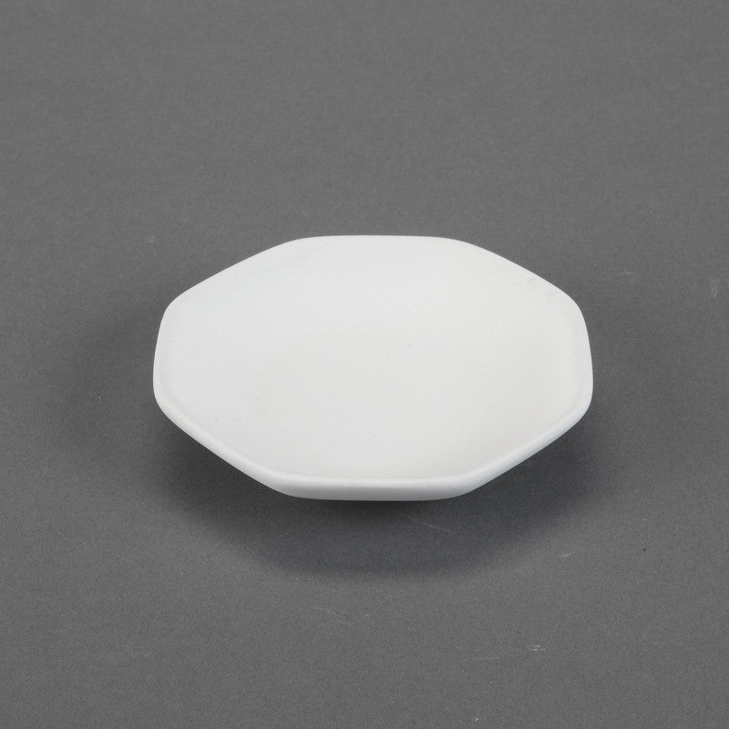 Duncan - 31522 Bisque Geometrix Small Octagon Plate - Sounding Stone