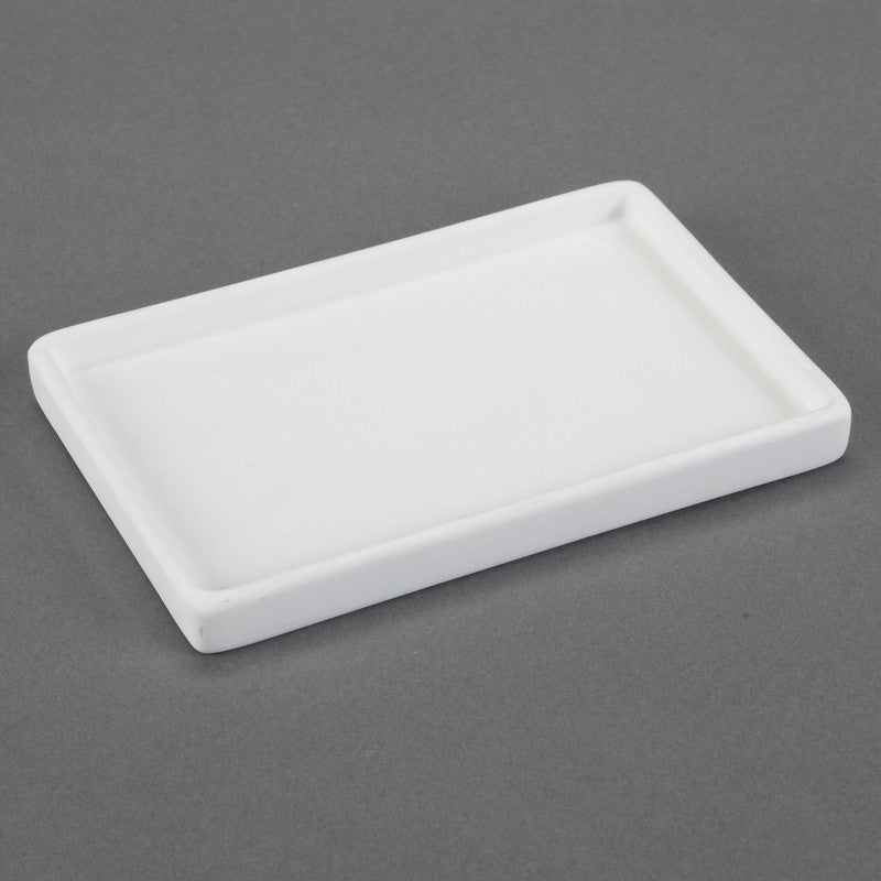 Duncan - 31527 Bisque Modern Small Bathroom Tray - Sounding Stone