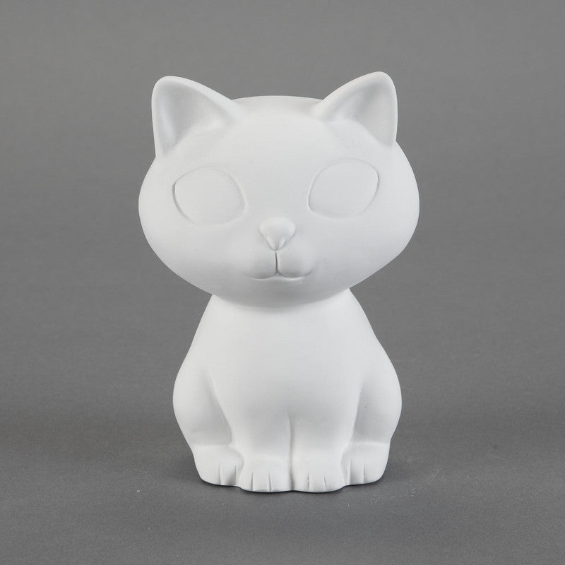 Duncan - 31808 Bisque Retro Kitty Bank - Sounding Stone