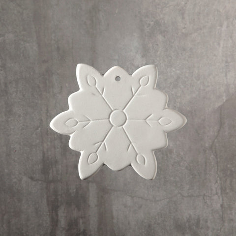 Duncan - 31982 Bisque Snowflake Ornament - Sounding Stone