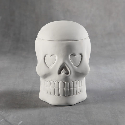 Duncan - 32855 Bisque Day of the Dead Skull Box - Sounding Stone